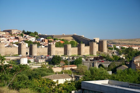 castilla: view of Avila city at Castilla in Spain Stock Photo