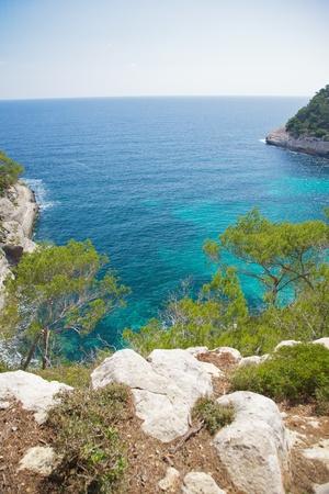 menorca: Mediterranean sea at Menorca island in Spain