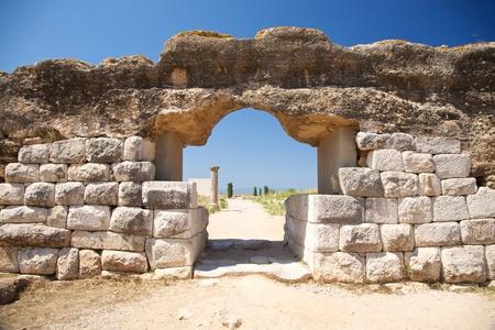 public ruins of Empuries ancient greek and roman city at Catalunya Spain photo