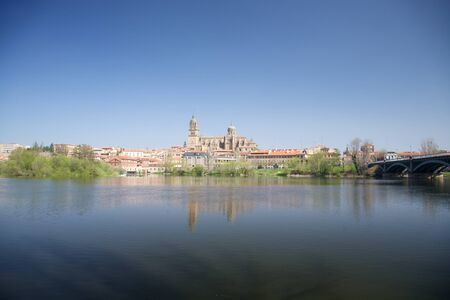 view of Salamanca city in Castilla Spain Europe photo
