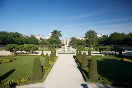 detail of El Retiro public park at Madrid Spain