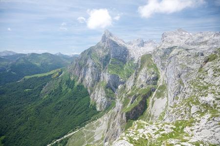 cantabria: Picos de Europa mountains in Fuente De village Cantabria Spain