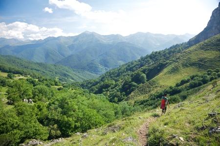 picos: Picos de Europa mountains next to Fuente De village Cantabria Spain