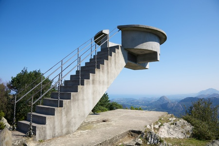 Viewpoint named Mirador Fito in Asturias Spain