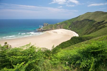 beach of Torimbia near to Llanes village in Asturias Spain photo