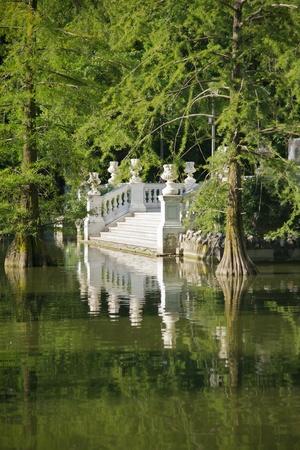 ancient Crystal palace in El Retiro park at Madrid Spain photo