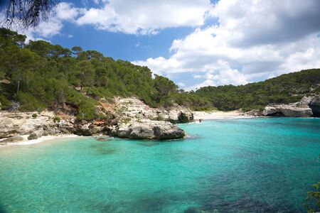 menorca: Mitjana beach at Menorca island in Spain