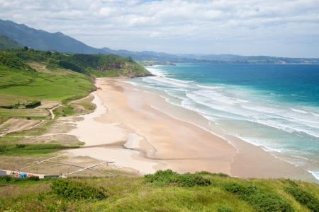 beach of La Vega near to Ribadesella village in Asturias Spain