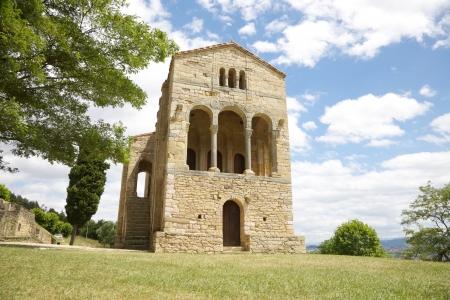ix: IX century Santa Maria del Naranco church near Oviedo city in Asturias