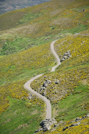 rural road at Gredos mountains in Avila Spain photo