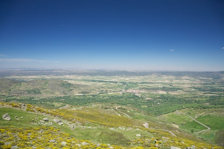 castilla: mountains at Gredos natural park in Avila Spain