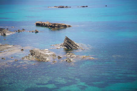 menorca: north seaside at Menorca island in Spain Stock Photo