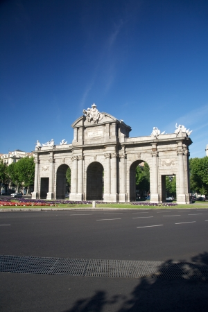 Puerta de Alcala monument at Madrid Spain photo