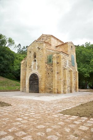ix: IX century San Miguel de Lillo church near Oviedo city in Asturias