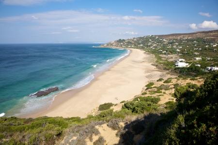 tarifa: sandy beach next to Zahara de los Atunes in Cadiz Andalusia Spain Stock Photo