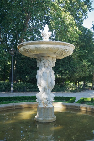 antique fountain at El Retiro public park in Madrid Spain Stock Photo - 16453179