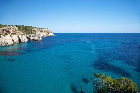 menorca: Macarella beach at Menorca island in Spain