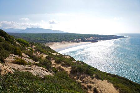 Canuelo beach next to Zahara de los Atunes in Cadiz Andalusia Spain photo