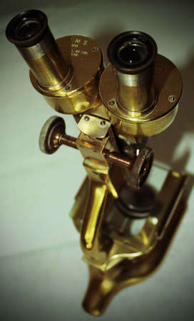 scrutiny: This study of an old brass microscope is evocative of scientific research and close scrutiny of its subject. The structure and rich colours of the microscope also make it an appealing object in its own right.