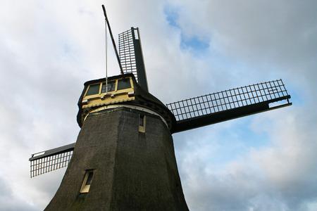 dutch: A study of a Dutch windmill.