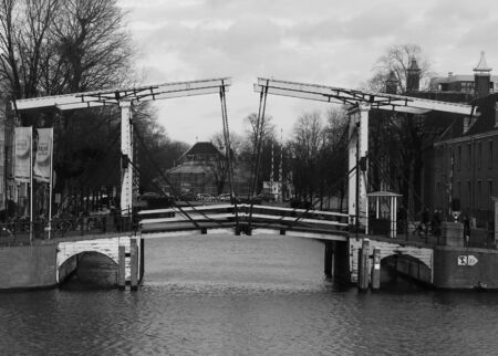 amsterdam canal: Amsterdam Canal Bridge Stock Photo