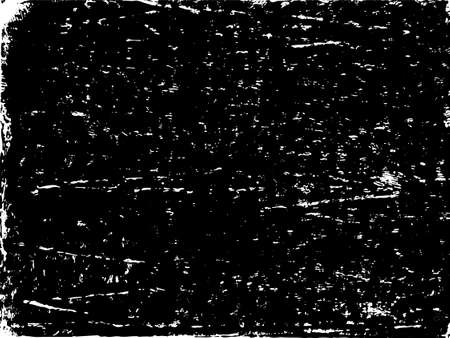 A black and white vector texture of a distressed, grungy lino print. Ideal for use as a background texture or for applying grunge, weathered or damaged effects to your images. The vector file contains a background fill layer and a texture layer to enable rapid color scheme changes.