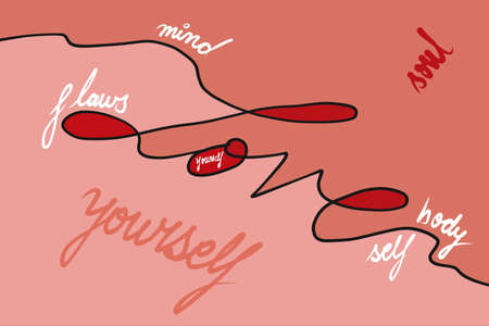 LOVE etched across shades of orange and red concept of loving ourselves, emphasising the idea that for a healthy mental space we need to respect and love ourselves in face of societal pressures