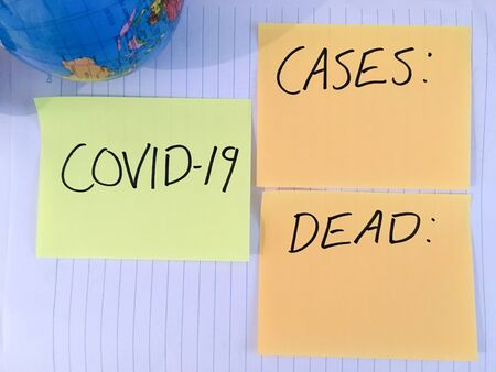 Coronavirus COVID-19 infection medical cases and deaths numbers. 写真素材