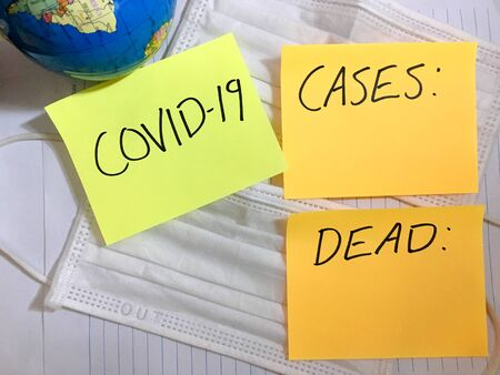 Coronavirus COVID-19 Worldwide infection medical cases and deaths.