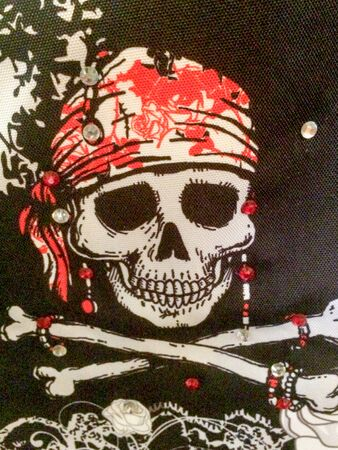 pirate flag jolly roger with skull and cross bones