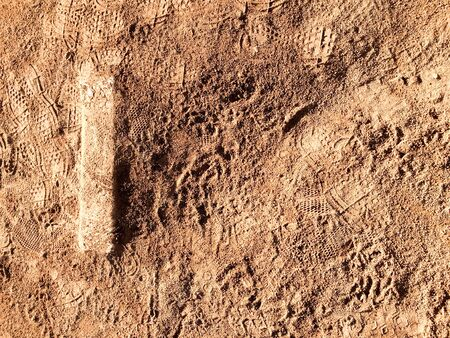 Brown dirt earth design background with tan soft textture Archivio Fotografico