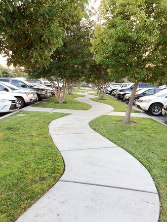 Concrete pathway walkway of life path empty no people wandering 版權商用圖片