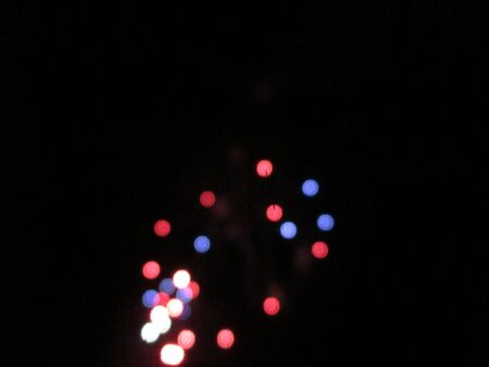 Fireworks in the Night Imagens