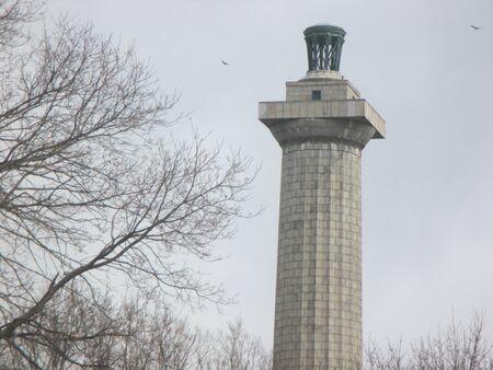 Perry's Victory en International Peace Memorial in Put-in-Bay bij Lake Erie Stockfoto