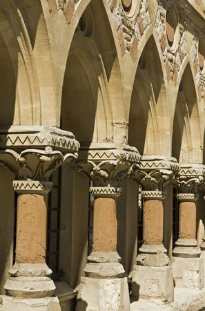 notting: Medieval columns of an old church in Notting hill