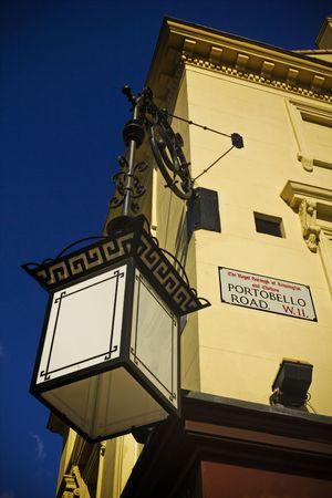 Signo de la carretera en la esquina del mundo famoso mercado de Portobello en Notting Hill, Londres  Foto de archivo - 7456248