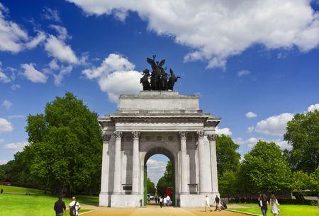 hyde: The Wellington Arch at Hyde Park Corner, London