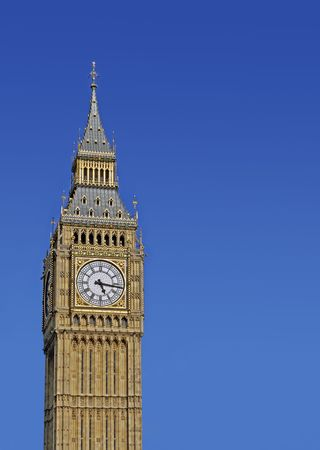 Big Ben in the summer, clear sky for copy space. Stock Photo - 7475256