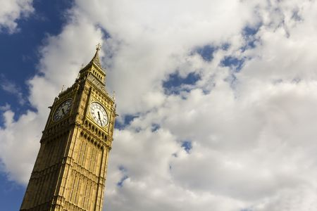 Big Ben in the summer with copy space. Stock Photo - 7475257