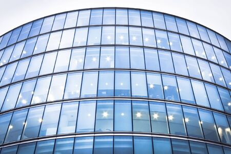Office Building at riverside of Thames photo