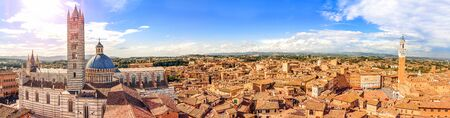 tuscany: Beautiful panorama of the historic city of Siena. Tuscany, Italy Stock Photo