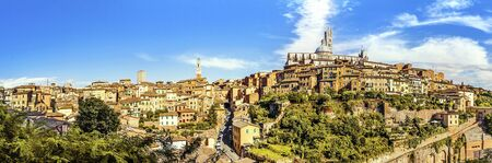 siena italy: Panoramic view of the historic city of Siena. Tuscany, Italy
