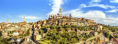 Panoramic view of the historic city of Siena. Tuscany, Italy