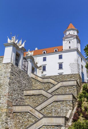 stair well: Stairs to the Bratislava Castle, Slovakia