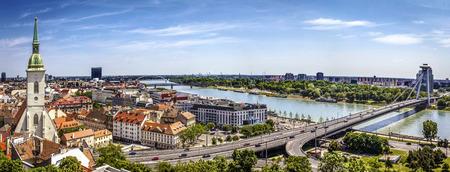 Bratislava panorama on a sunny day, Slovakia
