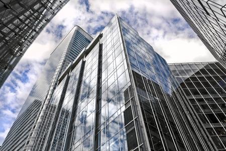wharf: Modern Office Buildings in Canar Wharf, London
