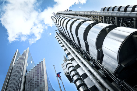 The Lloyd's Building also known as The Inside-Out Buildingand The Willis Building. 스톡 콘텐츠