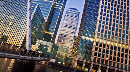 Canary Wharf is a large business and shopping development in East London. Londons traditional financial centre.