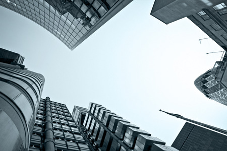 ロンドンの金融地区の有名な skysrcapers