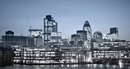 london skyline: Financial District. City of London one of the leading centres of global finance.this view includes :Tower 42 Gherkin,Willis Building, and Stock Exchange Tower.